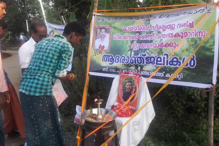 Kerala bids adieu to CRPF jawan Vasantha Kumar killed in Pulwama terror attack