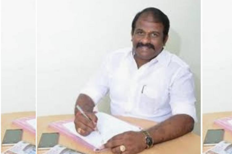 Vasantham Karthikeyan DMK MLA on his table