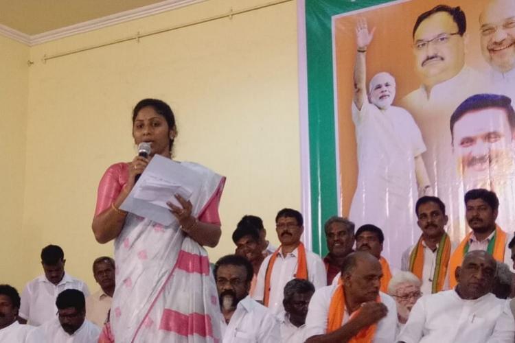 Slain smuggler Veerappans daughter joins BJP says she believes in Modis schemes