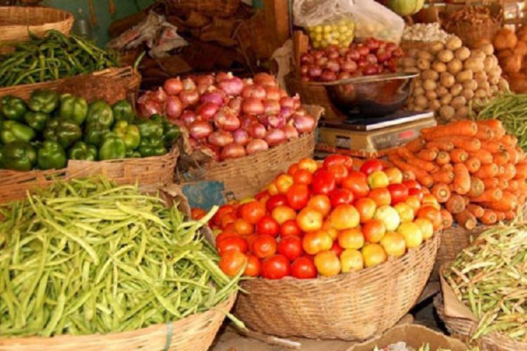Vegetables kept for sale