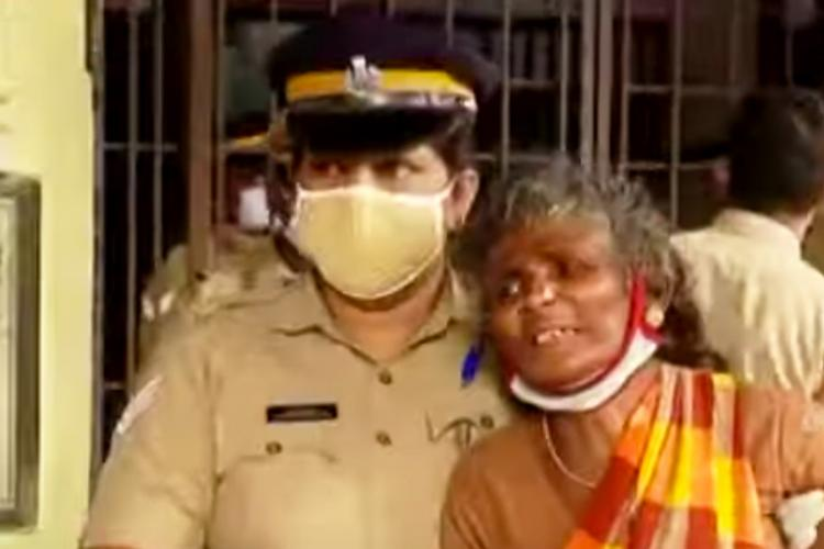 Mother of A Velmurugan the Maoist who was killed in Kerala with a police officer