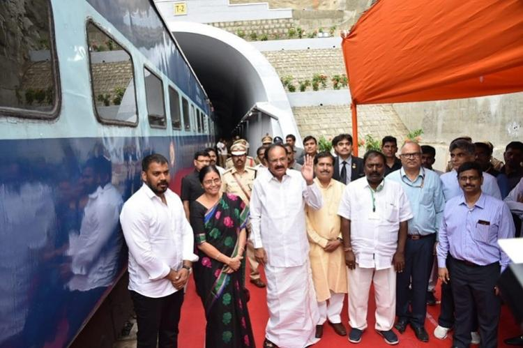 Indias longest electrified train tunnel inaugurated in Andhra
