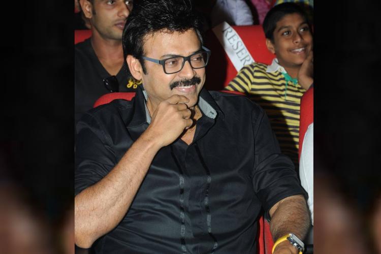 Telugu actor Venkatesh Daggubati cheers for SRH ahead of its IPL opener