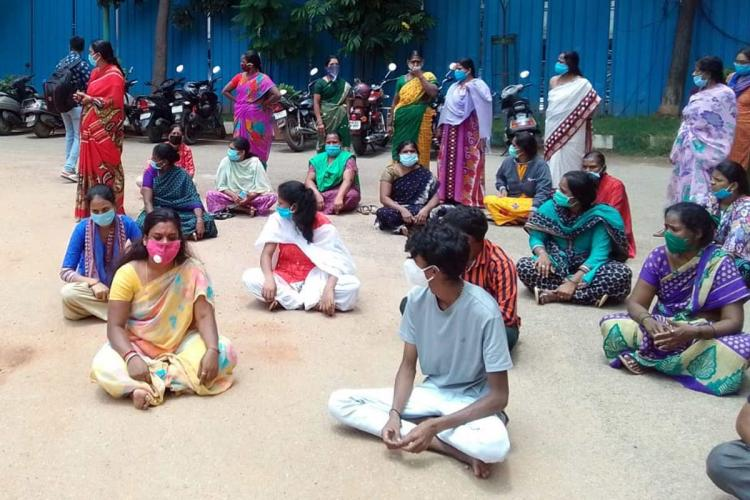 Protest at Victoria Hospital Bengaluru