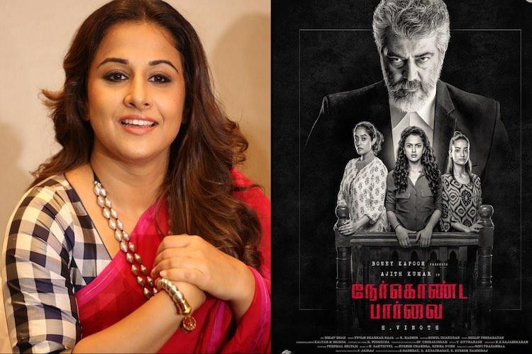 Vidya Balan compliments Ajith on his humility on Nerkonda Paarvai sets