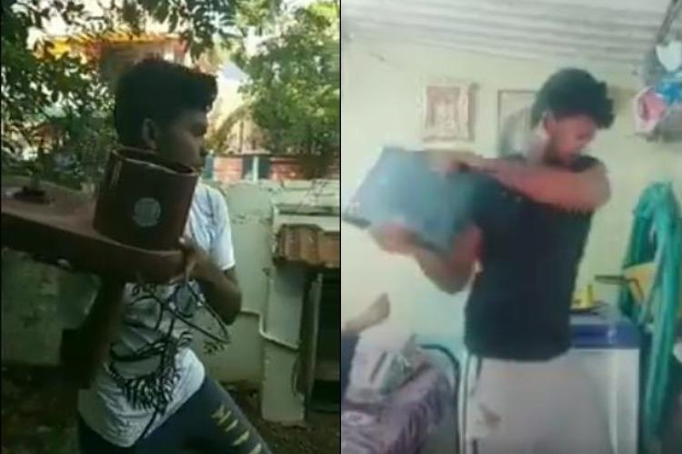 Vijay fans thrash and burn freebies and post videos online after Sarkar cuts