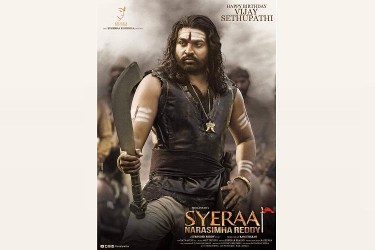 Vijay Sethupathis first-look as Raaja Paandi from Sye Raa Narasimha Reddy revealed
