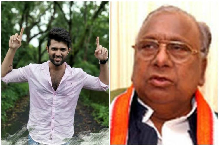 Thathayya Chill Vijay Devarakonda tells senior Congress leader who tore actors posters