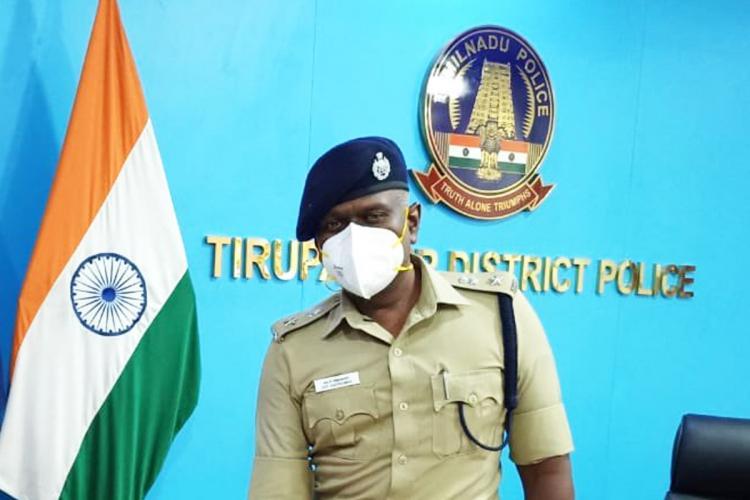 Dr Vijaya Kumar IPS in his Tirupattur office