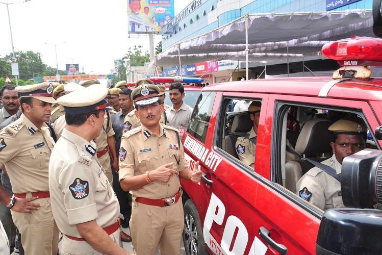 Vijayawada gets new cyber crime police station 12 interceptor vehicles for cops