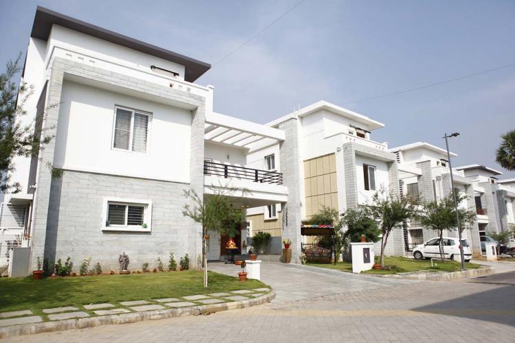 A white coloured luxury villa