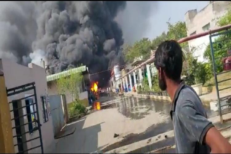Fire at Vindhya organics