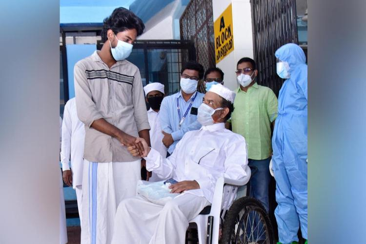 Vineeth the donor meets Sainudeen the first COVID-19 patient to recover with plasma therapy in Kerala