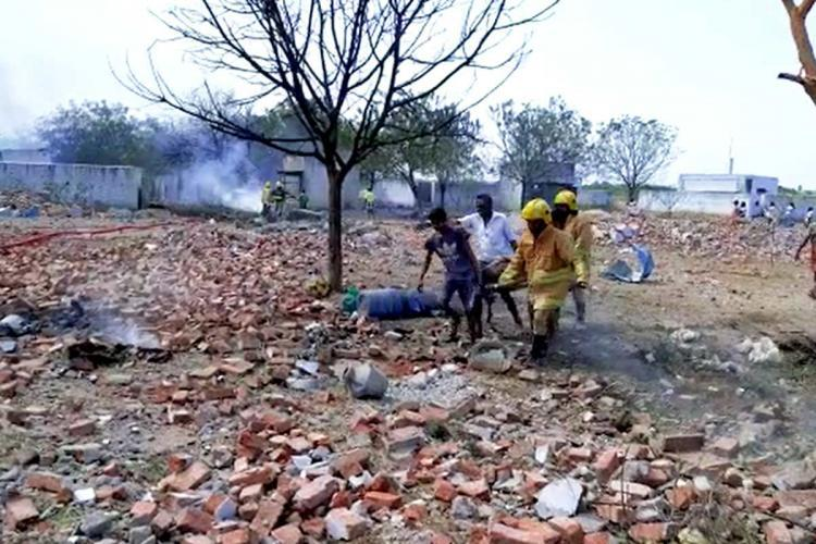 Site of fire accident in Virudhunagar district