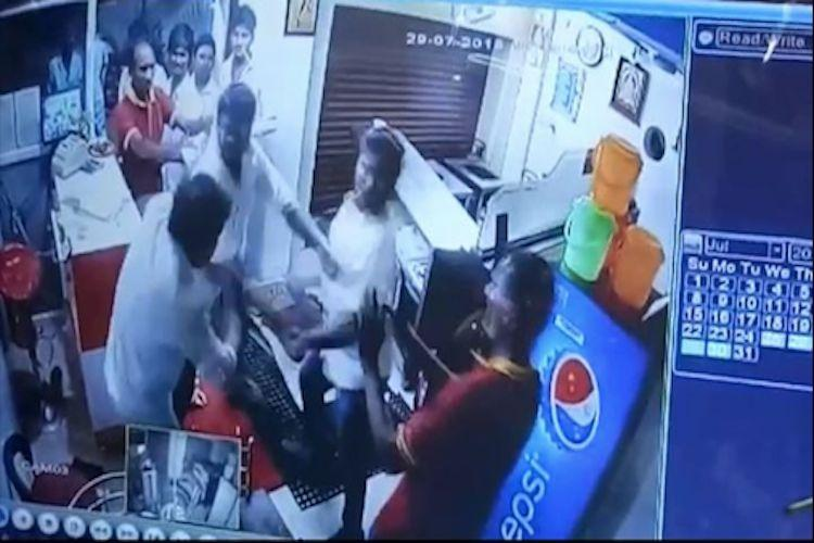 DMK member creates chaos at briyani shop!