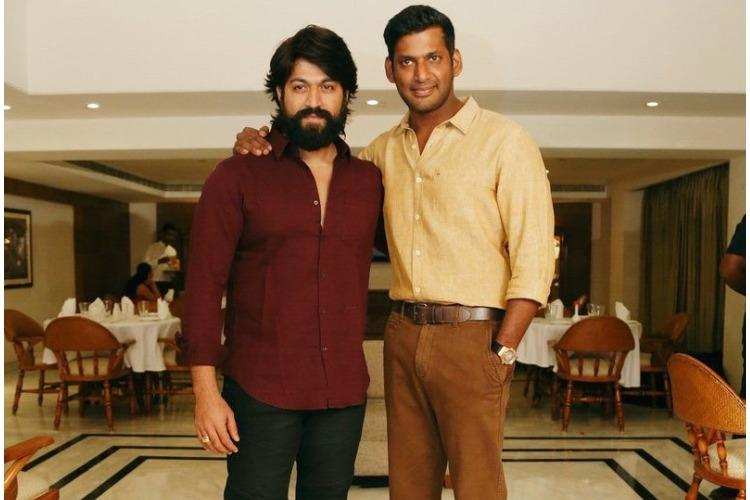 Vishal Wishes Yash Ahead Of Kgf Release The News Minute