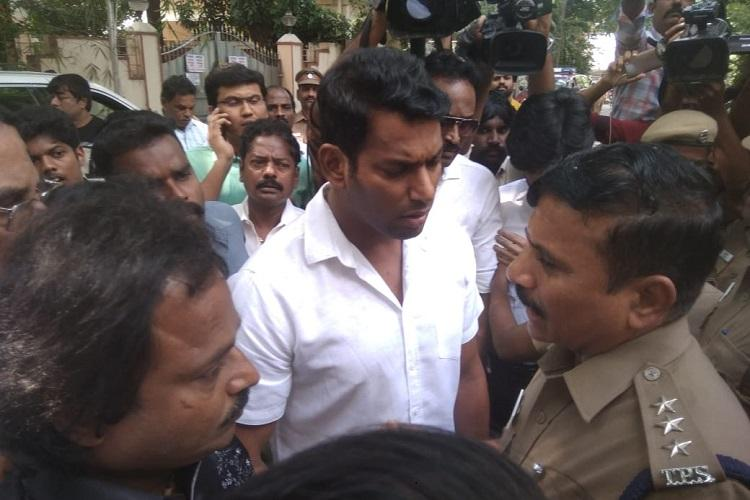 Chennai police detain actor Vishal for trying to break open Producers Council office