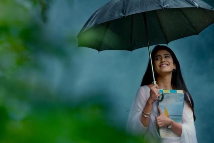 Priya Varrier appears in a white chudidar in the sneak peek video of 'Vishnu Priya'.