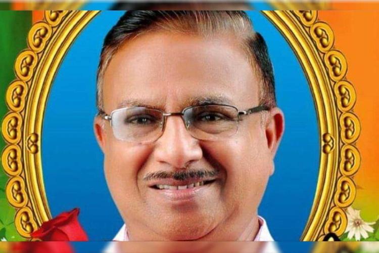 Deceased Vishwanathan BJP candidate