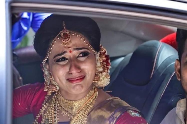Deceased Vismaya on her wedding day