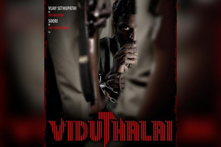 Soori and Vijay Sethupathi share first-look poster of Vetrimaarans Viduthalai