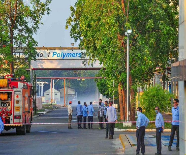 LG polymers unit in Vishakapatanam