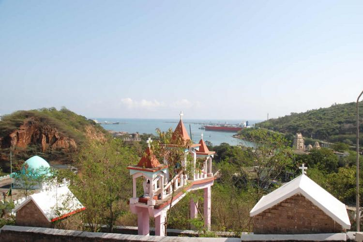 Ross Hill Vizag where a church a mosque and a temple are located on three hills