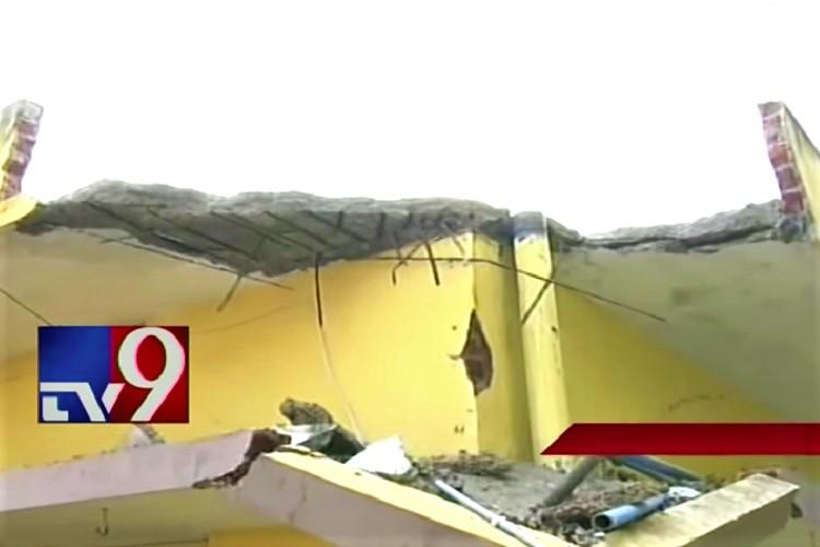 Wall collapse in Vizag pre-school kills 3-year-old parents stage protest