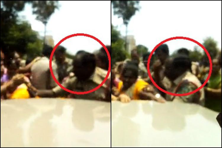 Caught on camera Vizag police manhandle anganwadi workers demanding wage hike