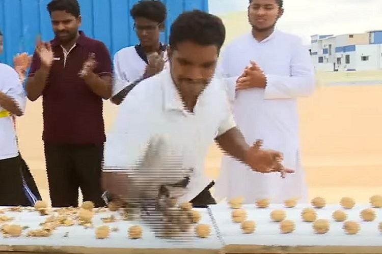 This is nuts Andhra man creates world record by crushing 212 walnuts in one minute