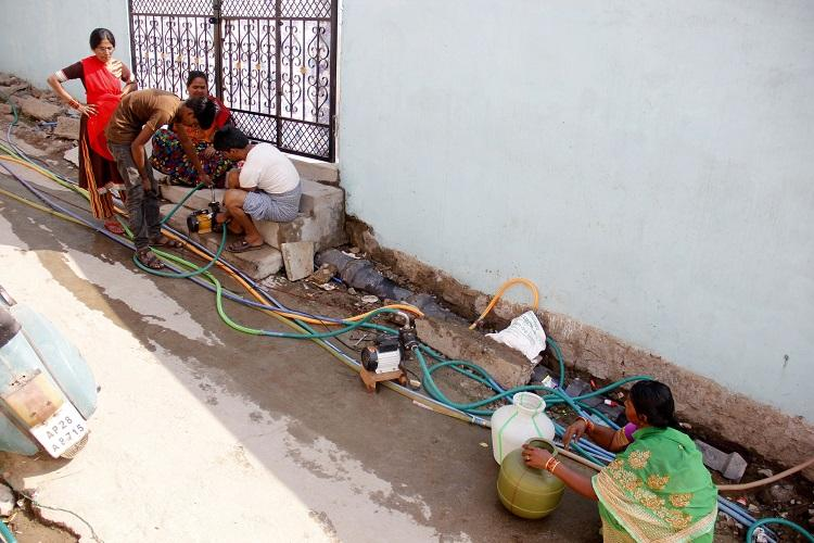 Hyderabad residents in parched neighbourhoods turning 'water