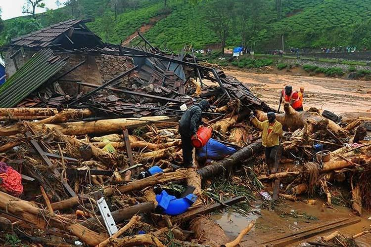 As of Sunday morning 60 people have died in Kerala floods 23 lakh people in camps