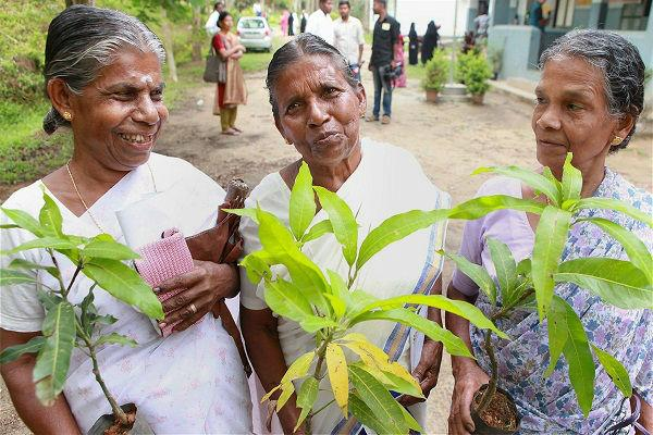 In Wayanad district first-time voters walked away with a sapling