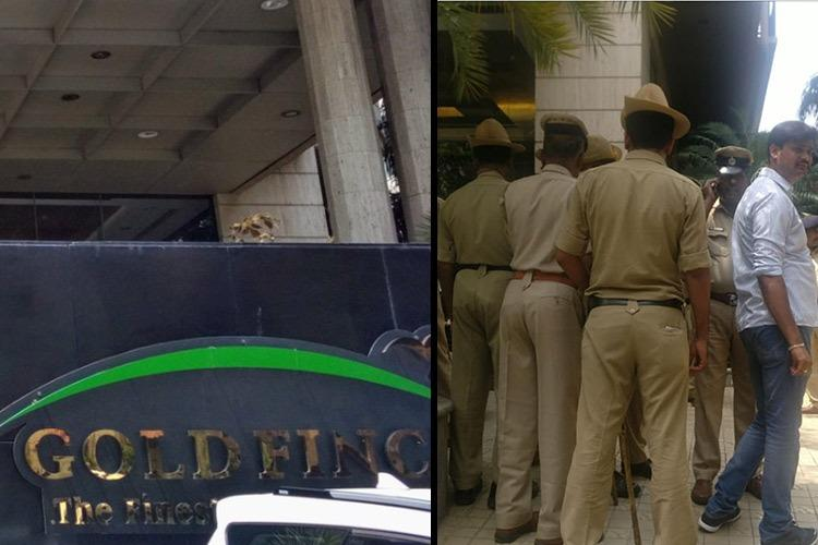Political tensions rise Ktaka cops at Bengaluru hotel rescue Cong MLAs from Reddy