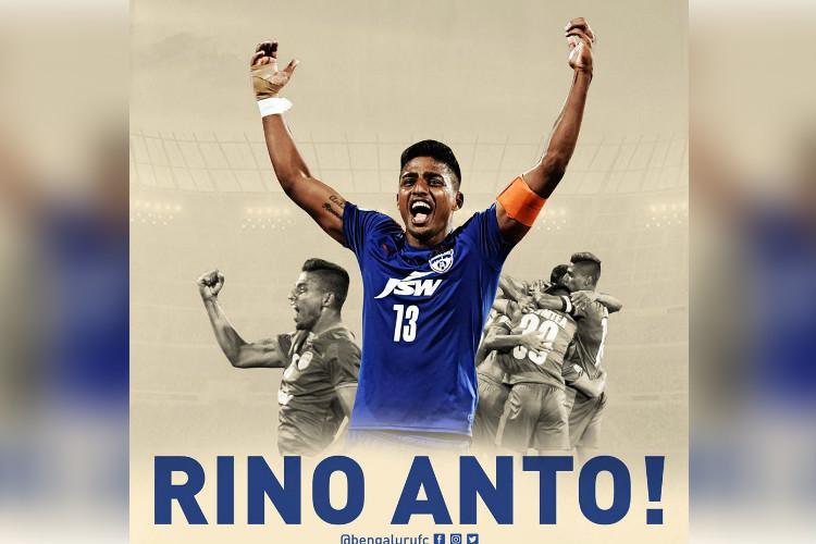 Full-back Rino Anto returns to Bengaluru FC for second stint