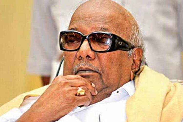 Burial not at Marina but Gandhi Mandapam TN govt tells Karunanidhis family