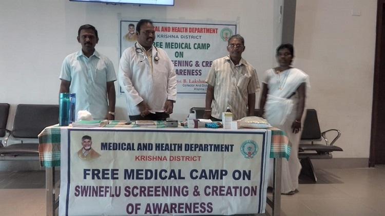 Swine flu Officials in Andhras Krishna district begin screening efforts