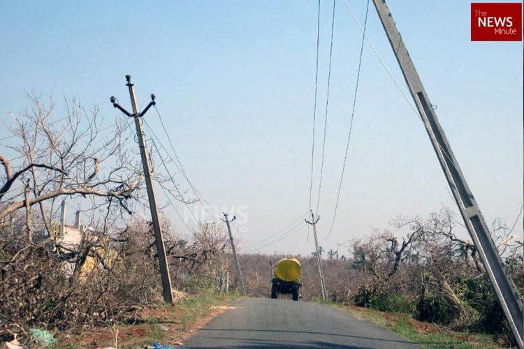 Cyclone Titli A week on several villages in Tekkali still dont have electricity