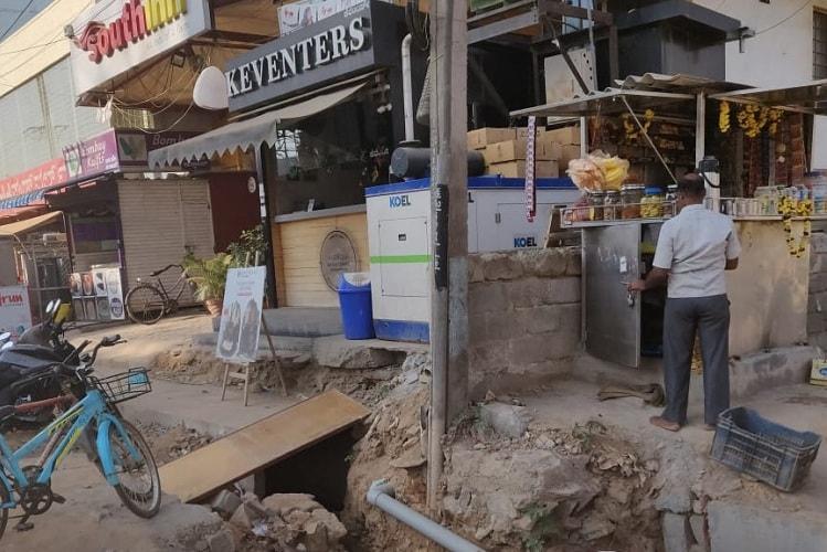 Sarjapur Road is a hazardous zone Bluru residents complain over BBMPs widening work