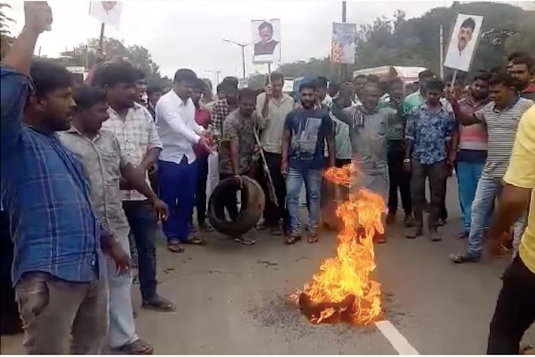 DK Shivakumar arrest Protests in Bengaluru and Ramanagara schools shut in Ramanagara