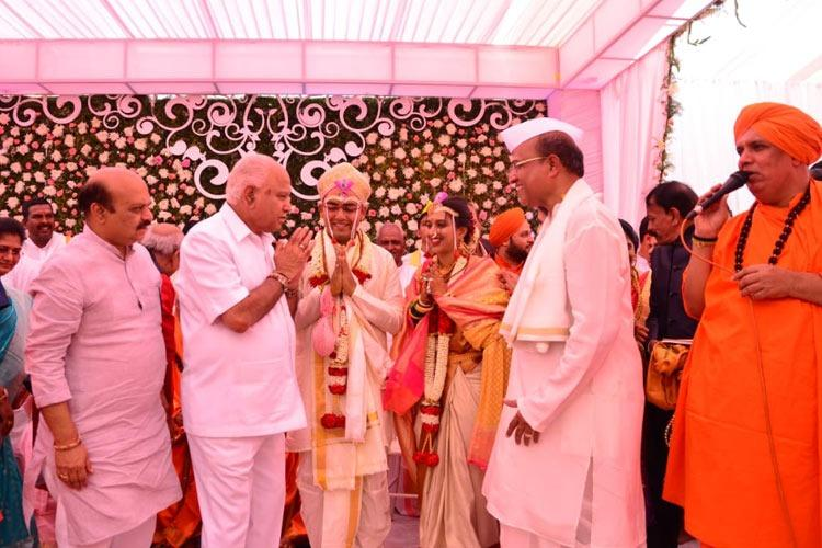 No restrictions for Ktaka CM He and hundreds more attend BJP MLCs kins wedding