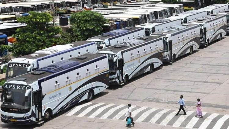 Buses meant for COVID-19 sample collection were parked in a space