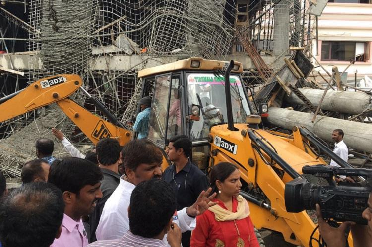 Two killed in Hyderabad as building under construction crashes