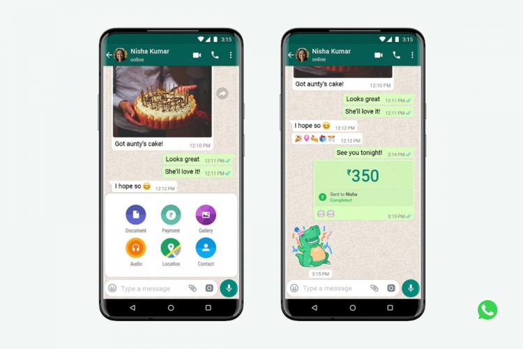 Whatsapp chat showing payments