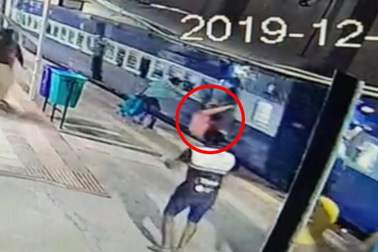 Video Narrow escape for Karnataka woman after she falls while boarding moving train
