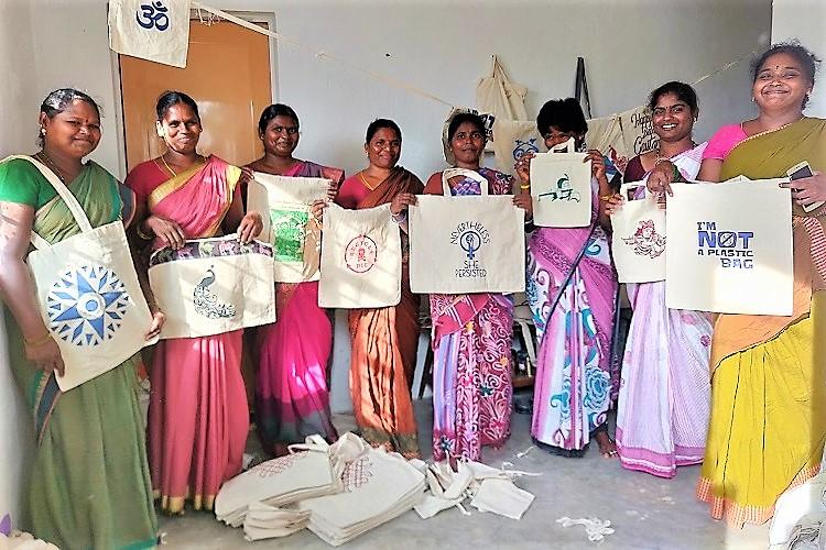 Making cloth bags Paalaguttapalles Dalit women are turning their lives around