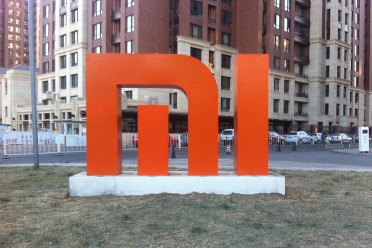 Xiaomi logo outside its beijing office