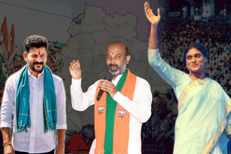 Revanth Reddy, Bandi Sanjay and YS Sharmila