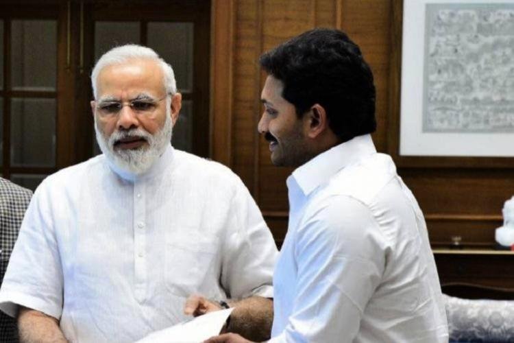 A file image of CM YS Jagan meeting PM Narendra