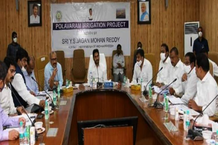 Andhra CM YS Jagan conducts a review with the officials on Polavaram project works